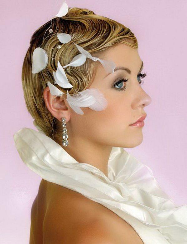 Coafuri pentru păr scurt pentru mirese în 2013
