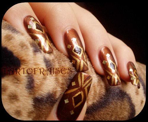 modele aurii de unghii gel