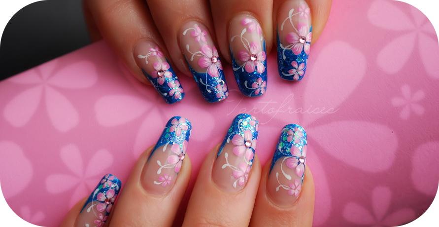 Modele de unghii cu gel cu flori