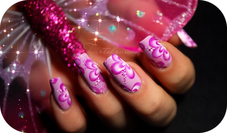 unghii cu gel roz