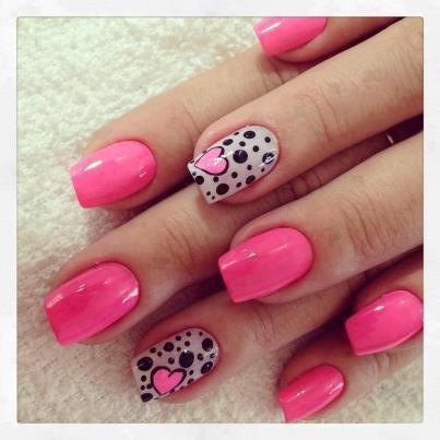 unghii roz cu gel
