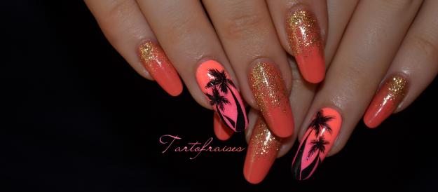 unghii cu gel roz de vara