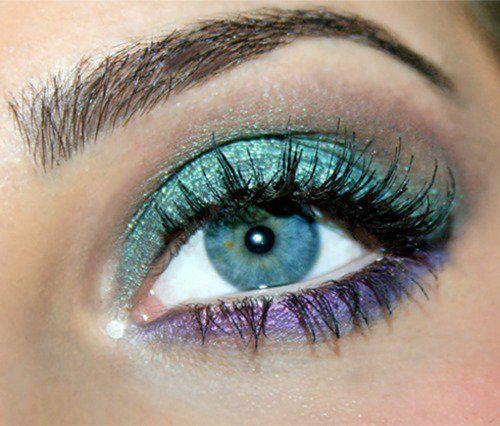 Machiaj pt ochi albastri