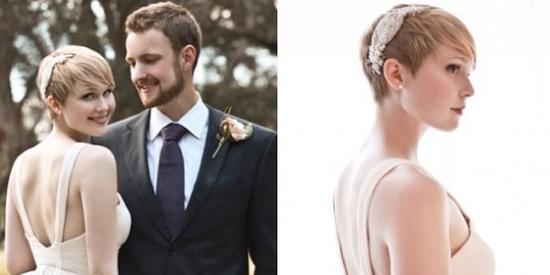 coafuri de nunta pentru par scurt