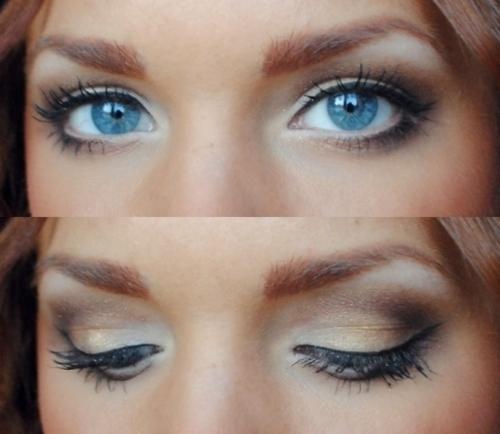 machiaj pentru ochi albastri