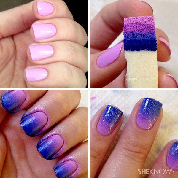 Cum sa realizezi unghii ombre