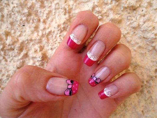 modele unghii dragute si romantice