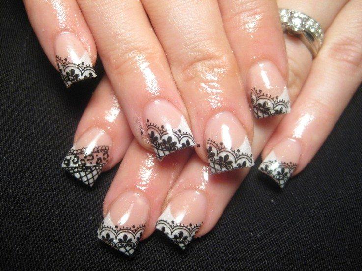 Modele de unghii cu dantela