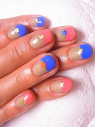 Modele de unghii cu gel pentru toamna 2013
