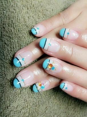 Modele de unghii cu gel pentru toamna