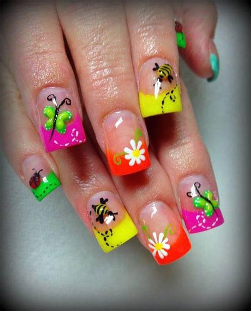 Modele de unghii cu gel pentru vara