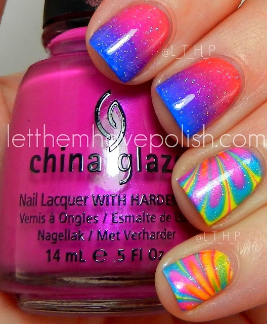 unghii multicolore pentru vara