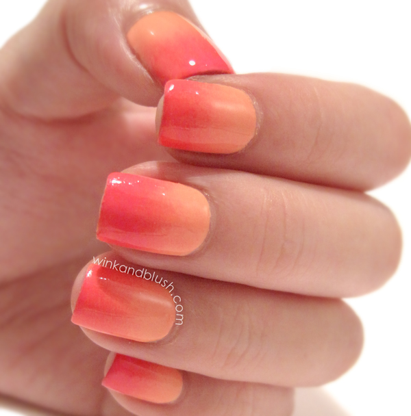 Modele de unghii ombre portocalii