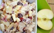 Salata cu mere si carne de pui