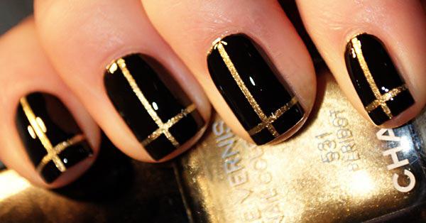 Modele de unghii aurii