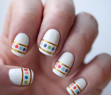 Modele de unghii cu buline