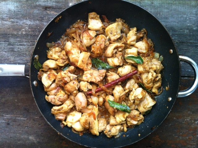 Pulpe de pui cu tamarind, curry si cocos