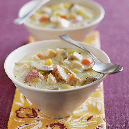 Supa cu pui si ciuperci