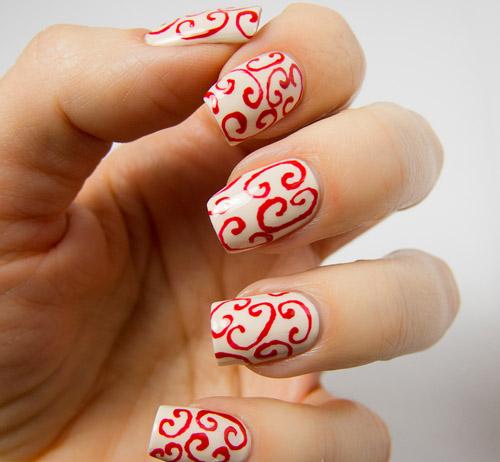 Modele de unghii rosii