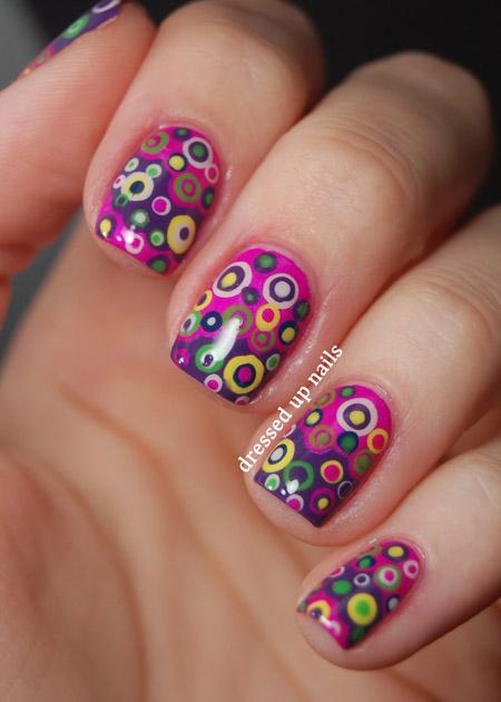 modele unghii cu buline