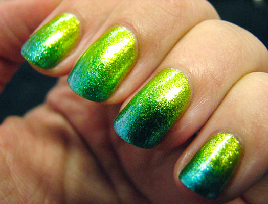 modele unghii cu gel verzi