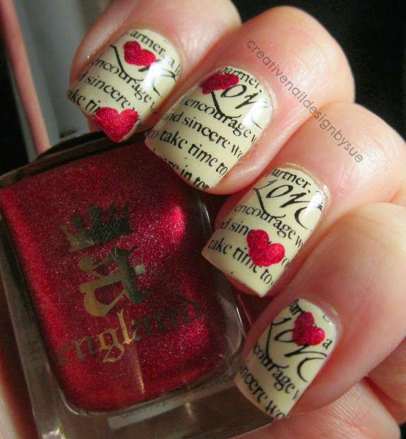 Modele de unghii cu ziar
