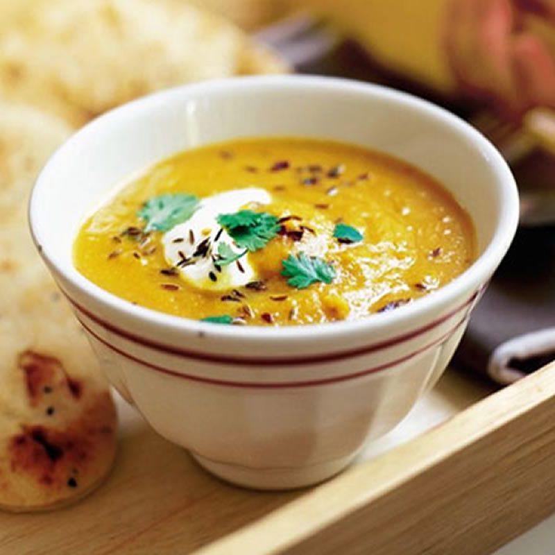 Supă-cremă de morcov și linte