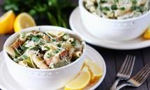 Supa-crema acrisoara de pui cu spaghete