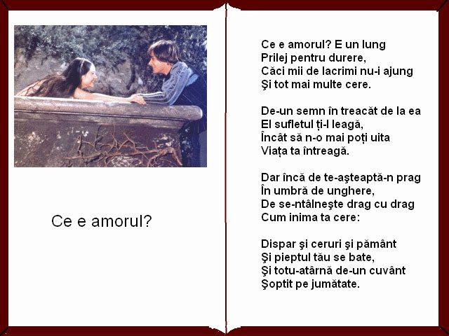Mihai Eminescu Ce e amorul?