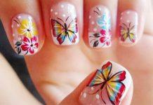 Modele-unghii-cu-fluturi