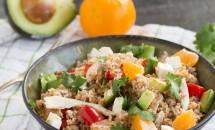 Salata de bulgur, clementine si curmale