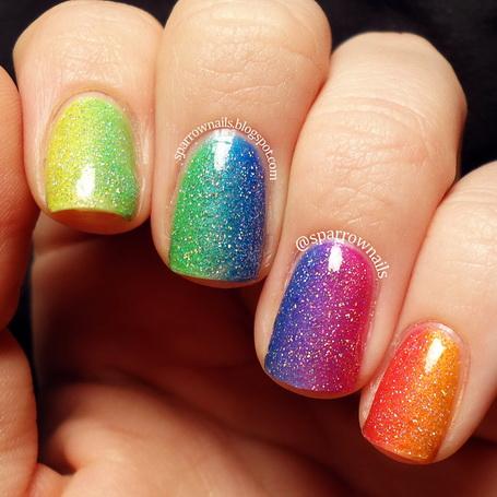 unghii de vara colorate