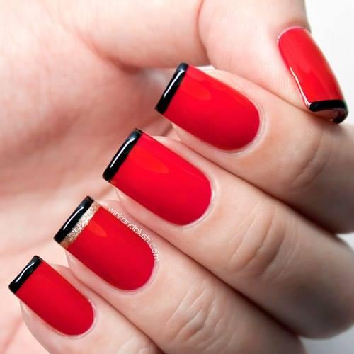 modele de unghii cu oja permanenta