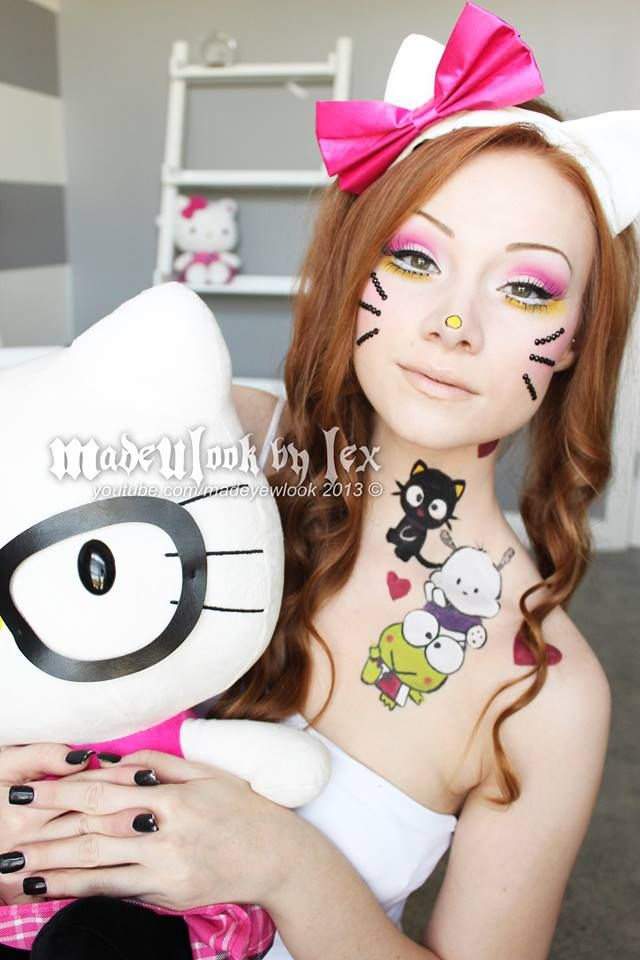 Machiaj inspirat de Hello Kitty