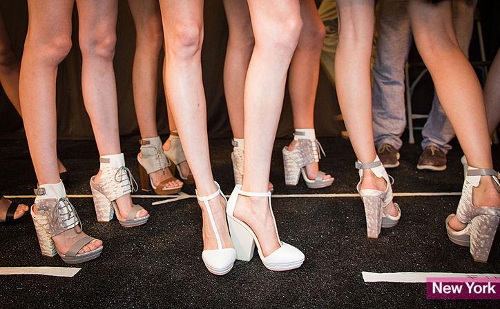 Pantofii cu tocul dreptunghiular si gros