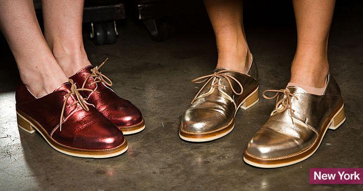 Pantofii simpli, fara toc, luciosi
