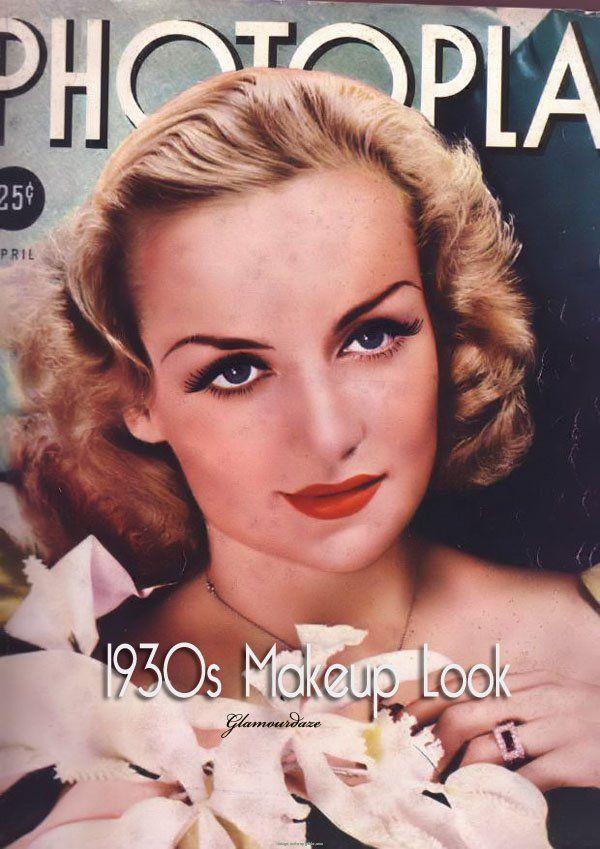 machiaj din anii 30
