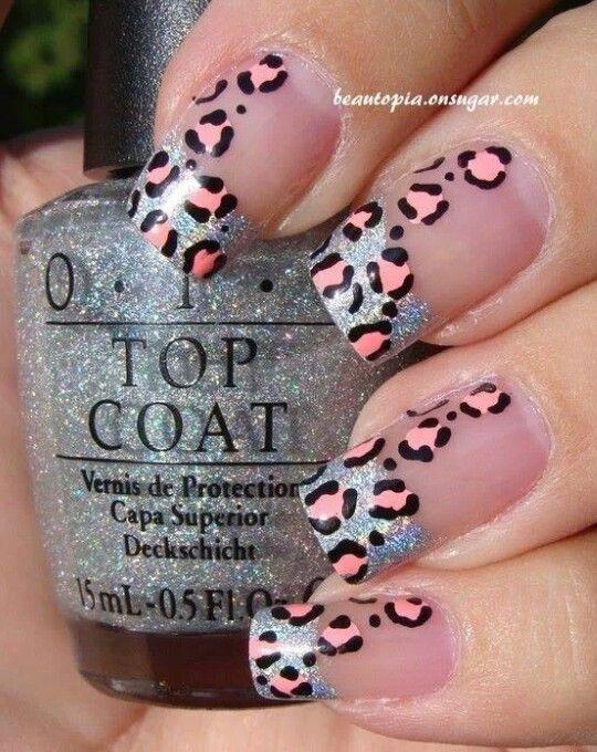 manichiura french cu imprimeu leopard