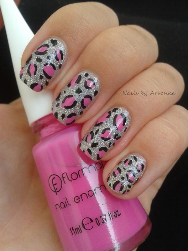 model de unghii leopard