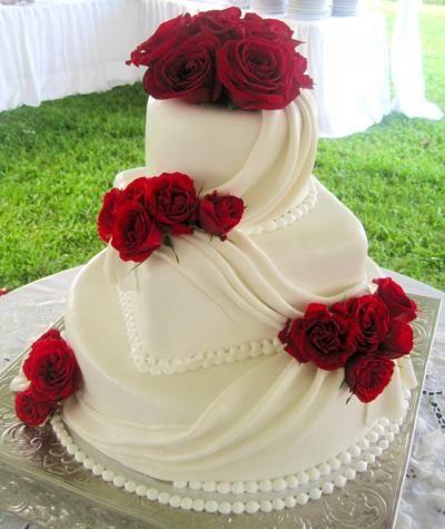 Red Rose Cake Design : Tortul miresei - mandrie si simbol - YVE.ro