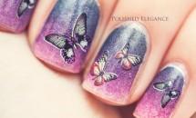 Modele de unghii cu aripi de fluture