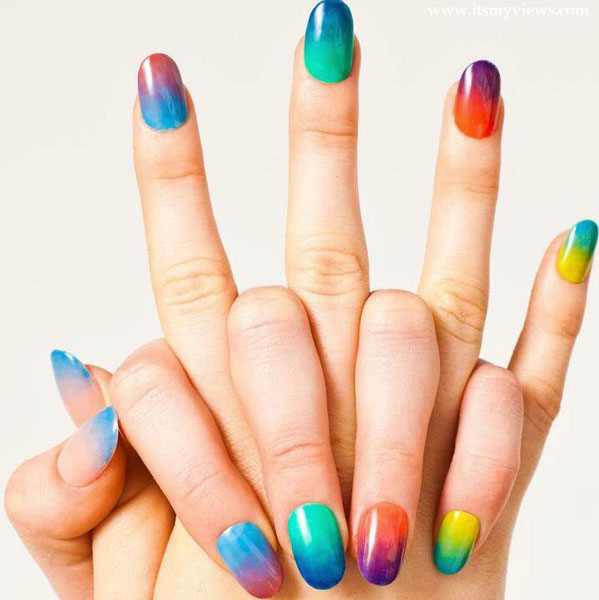 model unghii colorate distractive