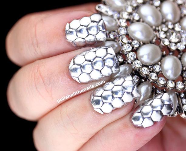 unghii argintii stralucitoare