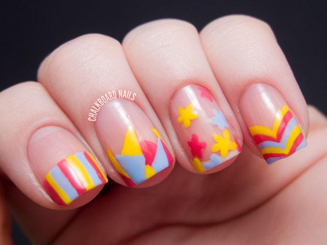 unghii colorate primavara
