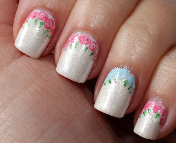 unghii mirese cu flori