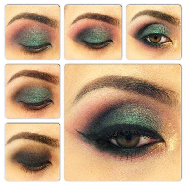 Machiaj pentru ochi verzi smokey eyes