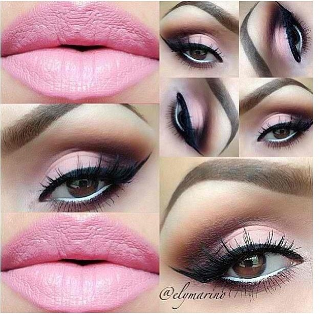 machiaj smokey eyes roz