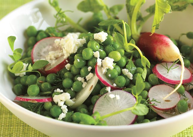 Salata de primavara cu mazare