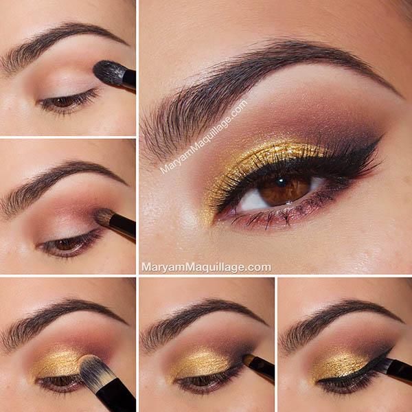 makeup cu auriu