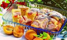 Prăjitură de caise cu aromă de lămâie